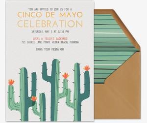 Cacti Flora Invitation