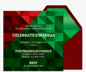 Celebrate Kwanzaa Invitation