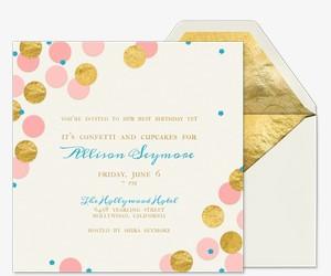Confetti and Cupcakes Invitation