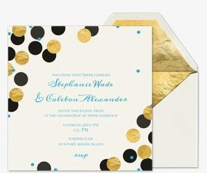 Confetti Love Wedding Invitation