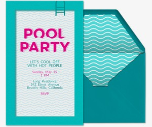 pool party free online invitations, party invitations