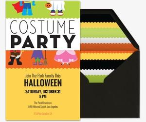 Costume Party Invite Invitation