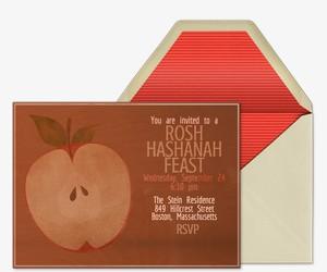 Country Apple Invitation