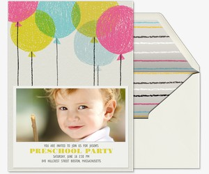 Crayon Balloons Invitation