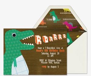 Dinosaur Roarrr Invitation