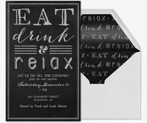 Eat, Drink & Relax Invitation