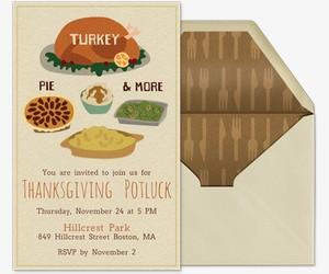 Fall Potluck Dinner Invitation