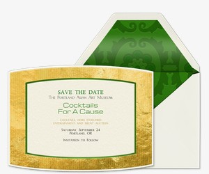 Gilded Green Invitation