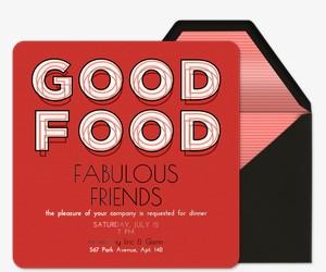 Good Food Invitation