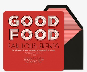 Good Food Invitation