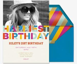 Happiest Birthday Party Invitation