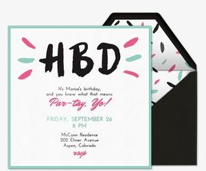 HBD Invitation