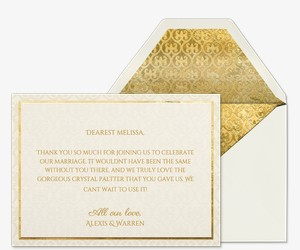 Heart of Gold Thank You Invitation
