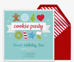Holiday Cookie Party Invite Invitation