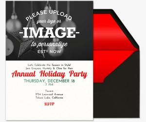 Holiday Upload Image Invitation