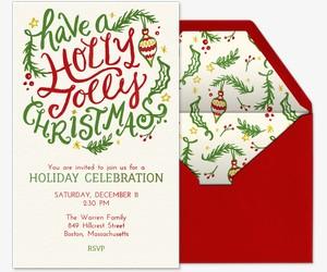 Holly Jolly Invitation