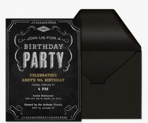 Birthday Chalkboard Invitation