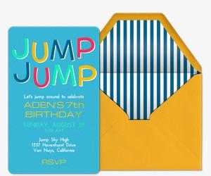 Jump Jump Invitation