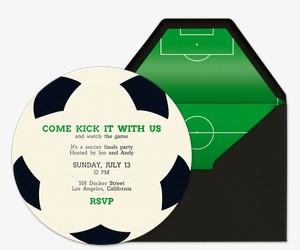 Kick It Invitation