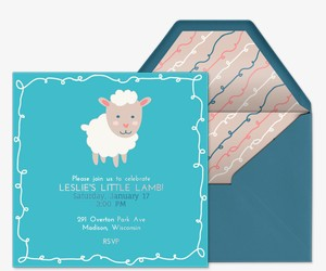 Little Lamb Invitation