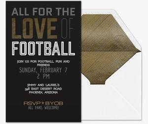 Love of Football Invitation