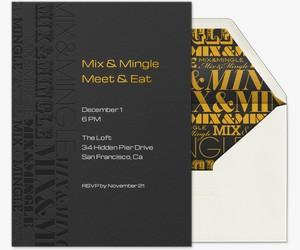 Mix and Mingle Invitation