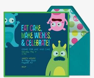 Monster Cake Invitation