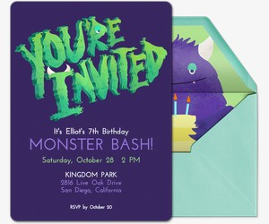 Monster Invite Invitation