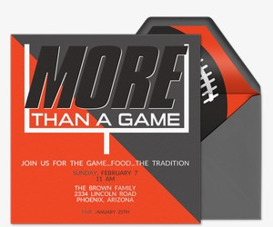 More Than a Game Invitation