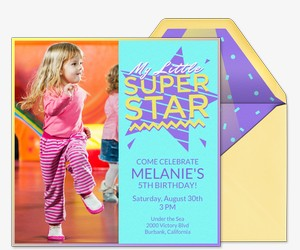 My Little Superstar Invitation