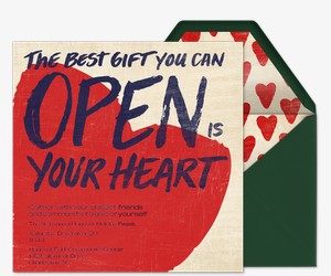 Open Your Heart Invitation