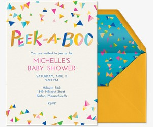Peek A Boo Invitation