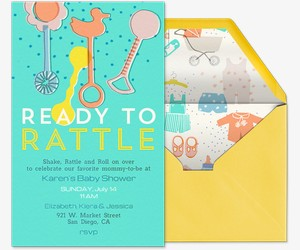 Ready to Rattle Invitation
