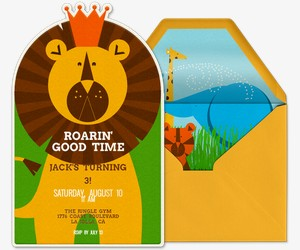 Roarin Good Time Invitation