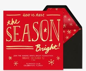 Season Bright Invitation