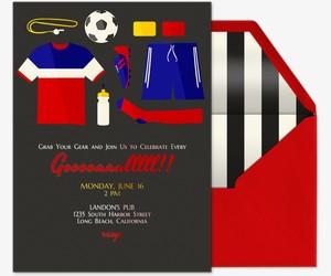 Soccer Essentials Invitation