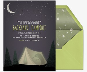 Spooky Tent Invitation