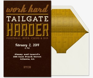 Tailgate Harder Invitation