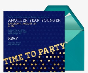 Time to Party Invitation