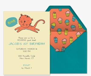 Tiny Tiger Invitation
