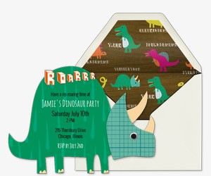 Triceratops Invitation