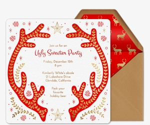 Christmas White Elephant Ugly Sweater Party Invitations Evite - Ugly sweater christmas party invitations template