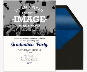 Graduation party online invitations evite upload your own grad invitation stopboris Choice Image