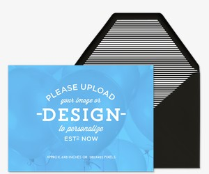 Upload Your Design Landscape Invitation
