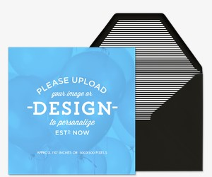 Upload Your Design Square Invitation