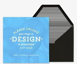 Upload Your Design Square Invitation