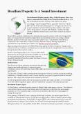 Brazilian Property Is A Sound Investment PowerPoint PPT Presentation