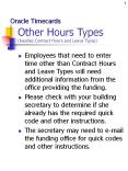 Other Hours Types (besides Contract Hours and Leave Types) PowerPoint PPT Presentation