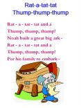Rat-a-tat-tat Thump-thump-thump PowerPoint PPT Presentation