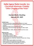 Delta Sigma Theta Sorority, Inc. Cincinnati Alumnae Chapter  PowerPoint PPT Presentation